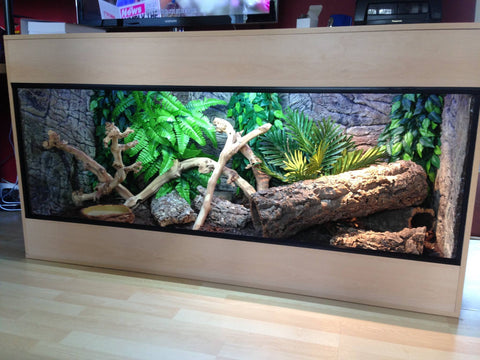 Jungle Bob 3D Aquarium Background 48x16 Inch For 40 Gallon Long Thin Beige 7795