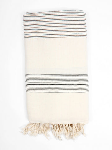 black and white turkish towel from bohemia at maeree