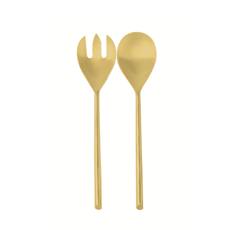 gold serving set at maeree be-home