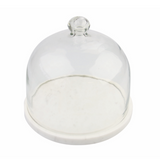 marble and glass cloche maeree