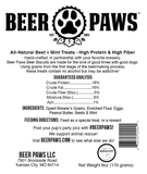Original Beer Paws Beet + Mint Flavor Beer Biscuits Craft Beer Treats for Dogs