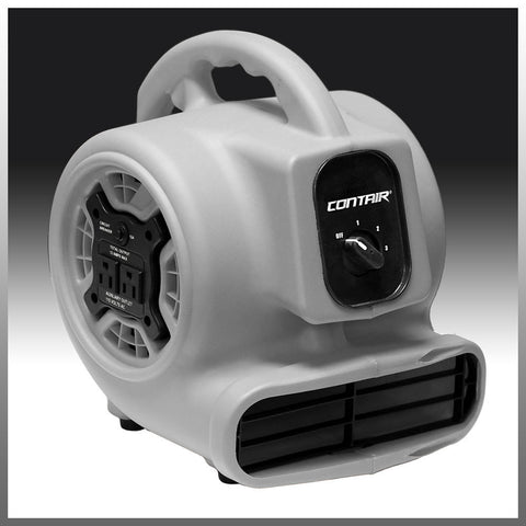 Air Mover - Contair® FLOW Air Mover Carpet Dryer Blower Floor Fan High CFM GFCI Plug Gray