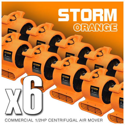 Air Mover - Contair® STORM 1/2HP Air Mover Carpet Dryer Blower Floor Fan High 2500 CFM Orange Color