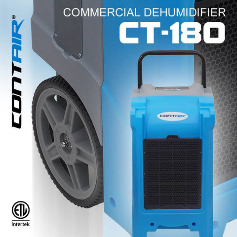 Dehumidifier - Contair® CT-180 XL Commercial Grade Dehumidifier Humidity Control ETL Certified