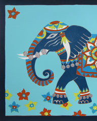 Limited Edition Print Signed Reduction Linocut Elephant II closeup