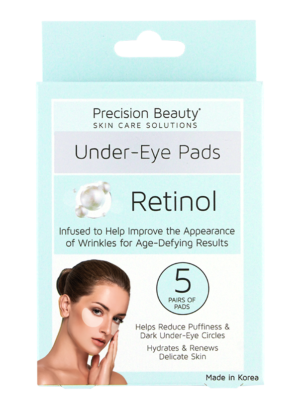 Precision Beauty 5 Pair Korean Under-Eye Pads, Retinol