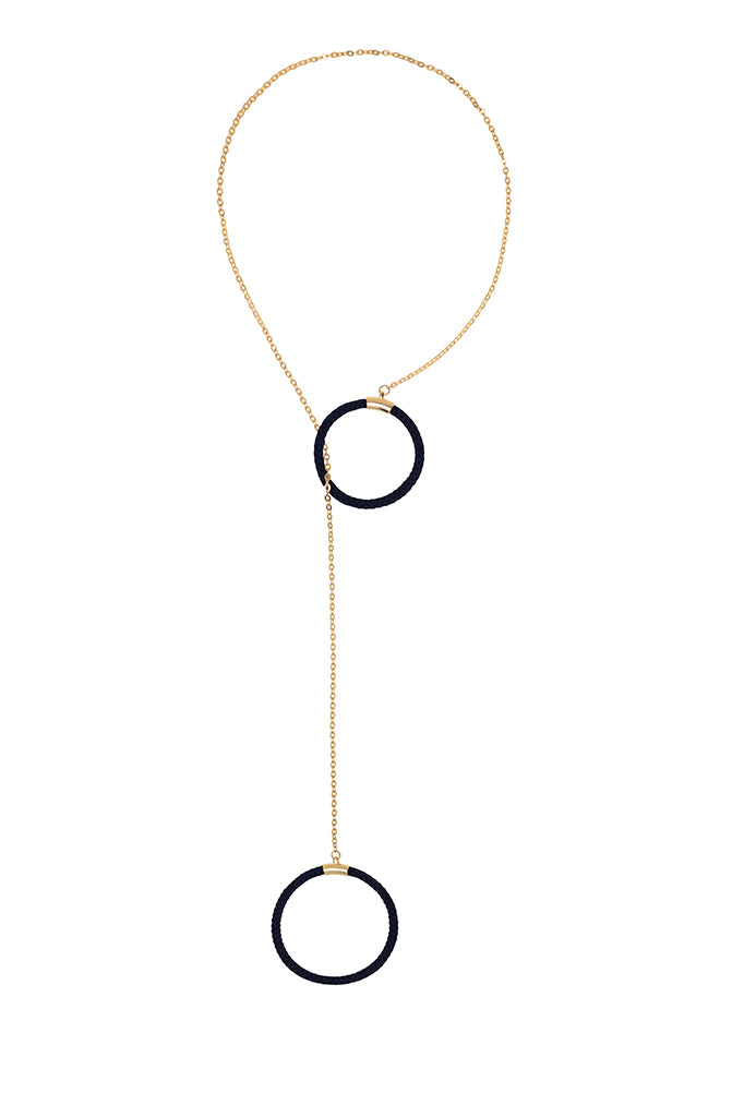Hoop Adjustable Necklace Various Colors