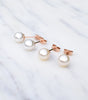 9ct Rose Gold Pearl Stud Earrings, earrings - Katherine Swaine