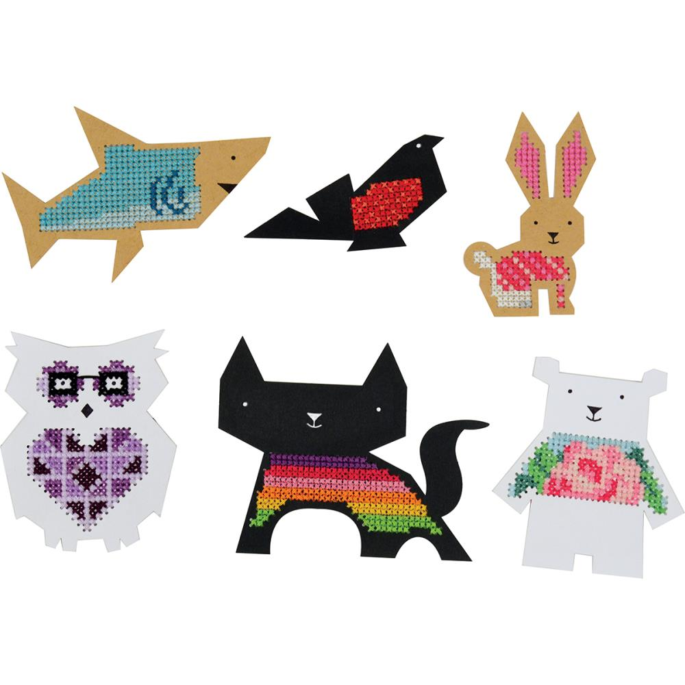 Animal Shapes Punched For Cross Stitch