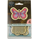 Wood Butterfly Punched For Cross Stitch