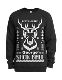 Snow Ball Steer Crew Jumper in Black - Unisex