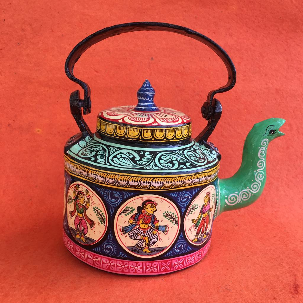Nartaki Pattachitra Hand Painted Kettle