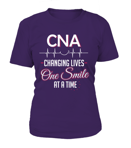 CNA Changing Lives - One Smile At A Time Shirt - Giggle Rich - 8