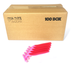 100 Box of Pink Razors - Big Box of Razors - High Quality Bulk Disposable Razor Blades