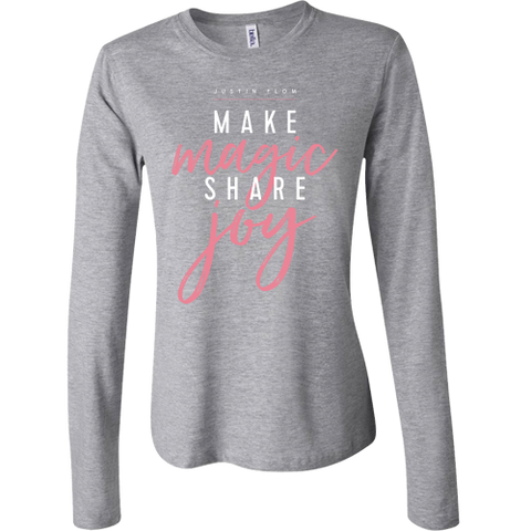 Make Magic Long Sleeve Ladies Tee