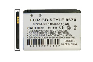 Image of Blackberry Cell Phone Compatible Li-Ion Battery