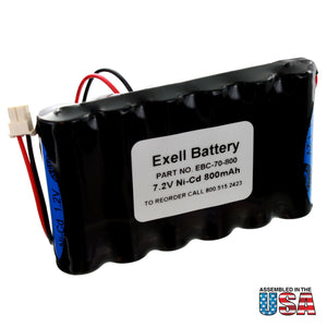 Image of NiCD 7.2V 800mAh Back-Up Battery for Security Alarm Systems