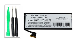 Image of iPhone 5 Battery w/tools (not 5c or 5s) - Fits A1428, A1429, A1442