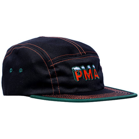 Icy 5 Panel Cap Black