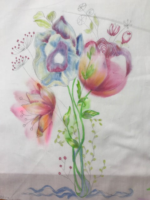 Tips for painting with ink on fabric