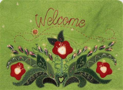 Welcome – Wool Applique