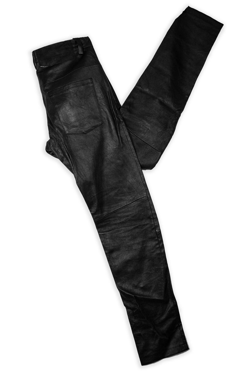 CARL IVAR BLACK LEATHER PANTS