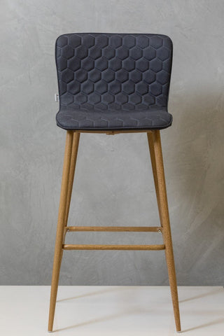 "30"" Giselle Bar Chair -  Charcoal Gray"