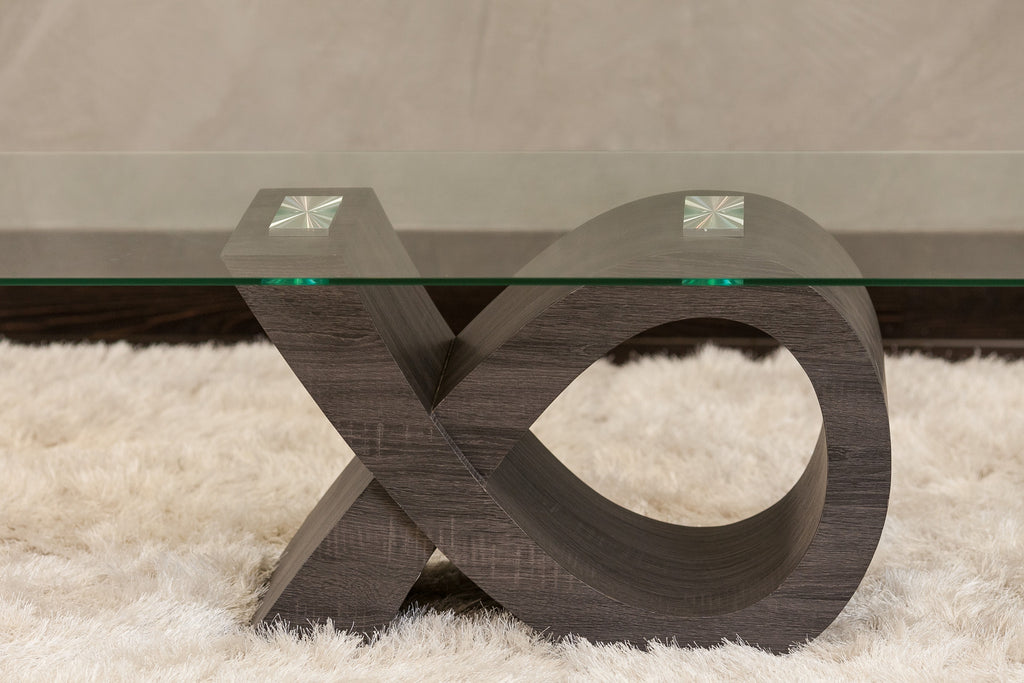 """Ribbon"" Coffee Table - Dk.Brown 49"" x 24"" x 18"""