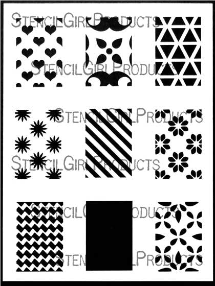 Rectangles Mini Printmaking Stencil Set #1
