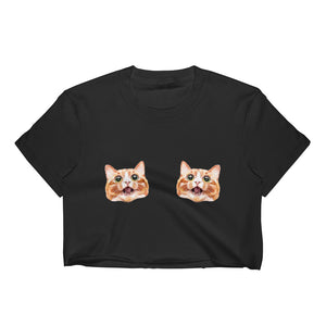Itty Bitty Ginger Kitty Commit-Tee - Unisex Crop Top