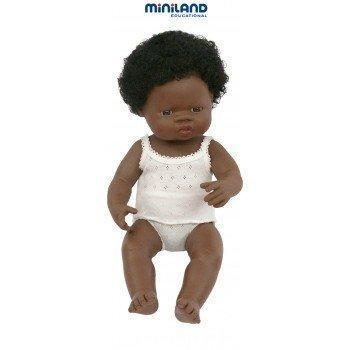 Miniland Doll - African Girl - 38cm - Miniland -PRE ORDER - Due late July