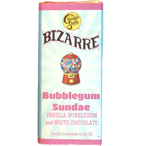 Mini Bubblegum Sundae White Chocolate Bizarre Bar - 40g