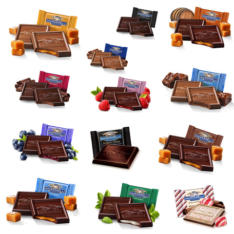 Ultimate Ghirardelli Squares Collection (15 varieties)
