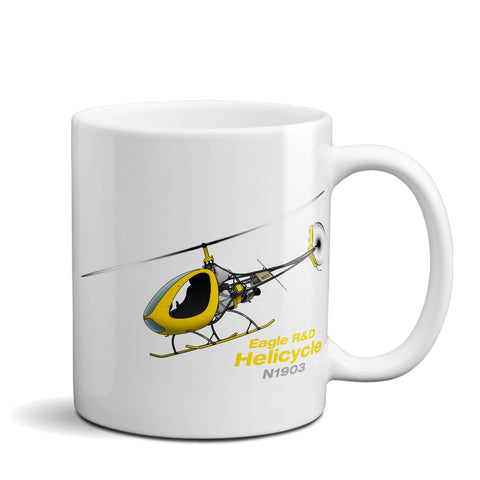 2008 Eagle R&D Helicycle (Yellow/Black) Ceramic Mug - Personalized