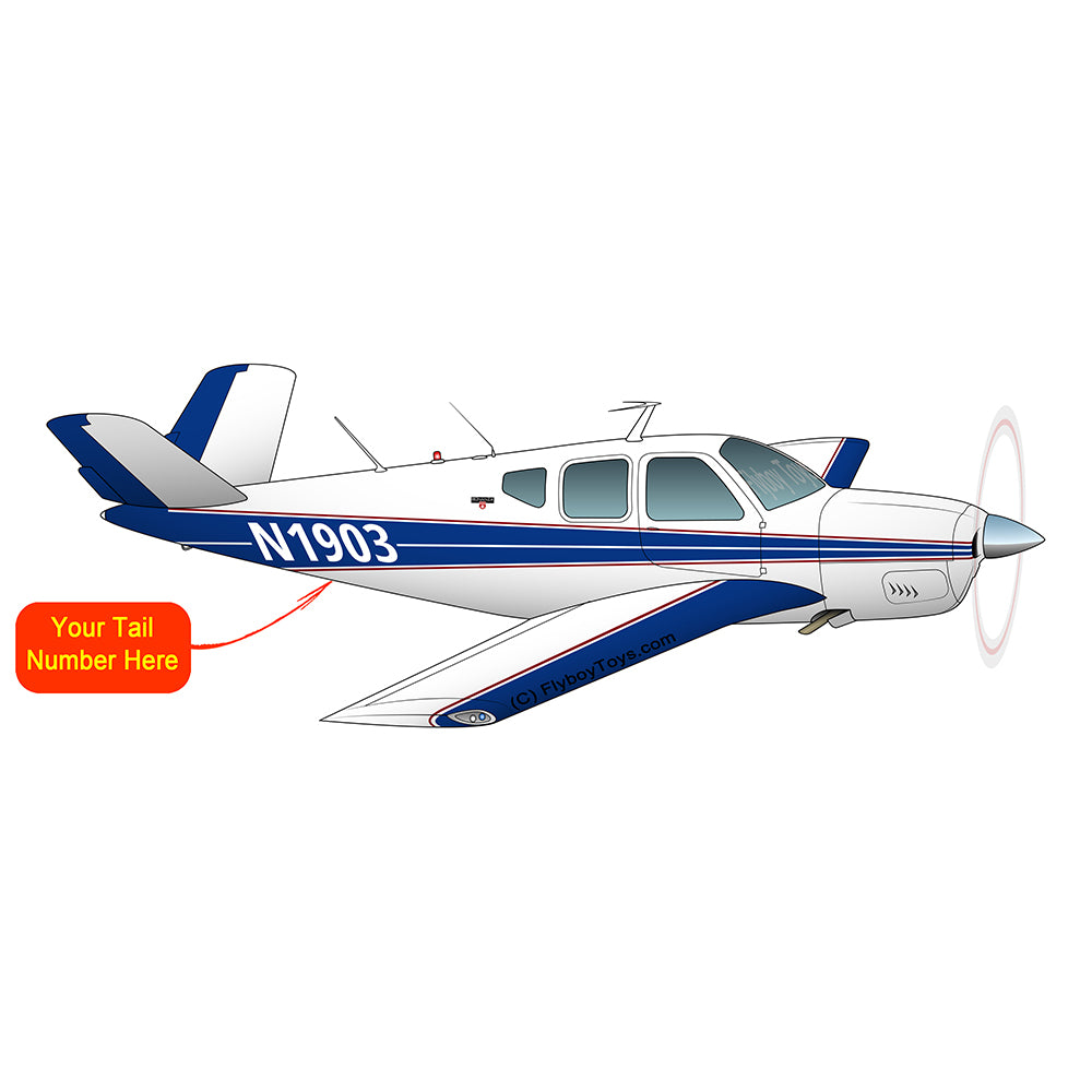 Beechcraft Bonanza H35 Blue