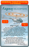Robinson R44 HD Helicopter Sign - Silver