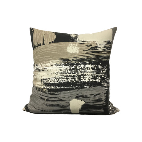 Abstract Charcoal Throw Pillow 17x17