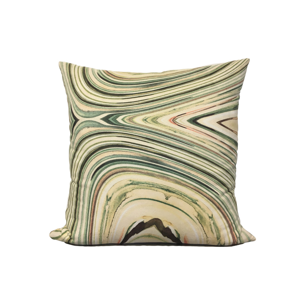 Cest la viv Pale Marble Throw Pillow 17x17""