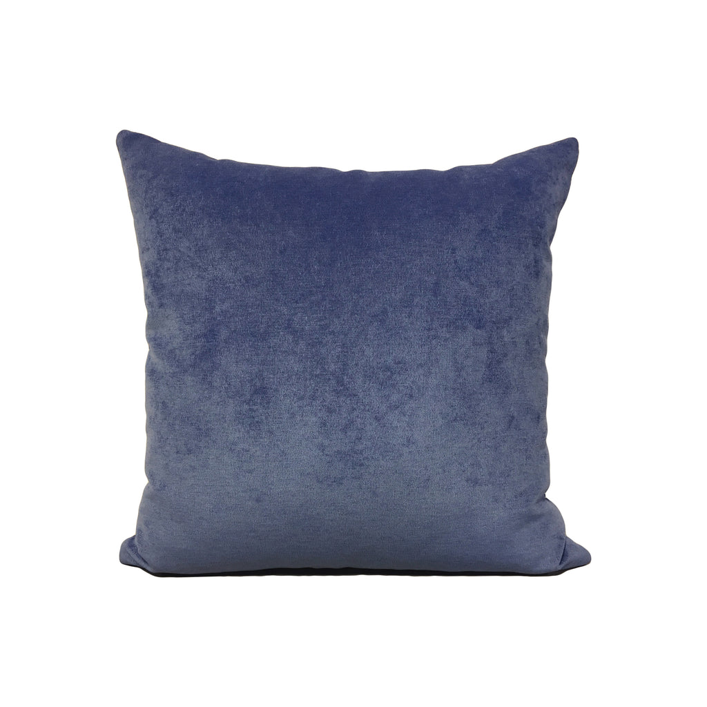 Royal Chenille Blue Shock Throw Pillow 17x17""