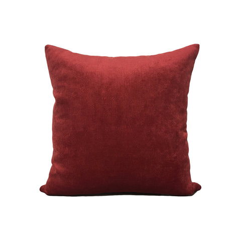 Royal Chenille Poppy Red Throw Pillow 17x17""