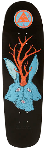 "Welcome ""Bunny Heads"" on Planchette (Black) Skateboard Deck"