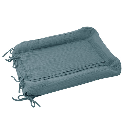 Changing Pad Cover Fitted - Ice Blue