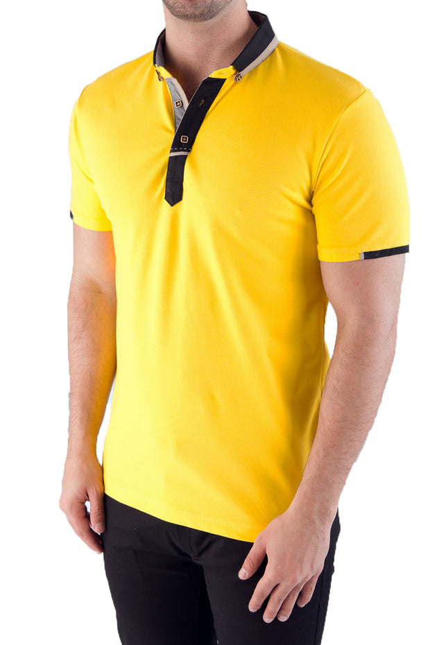 Solid Fashion Polo // Yellow