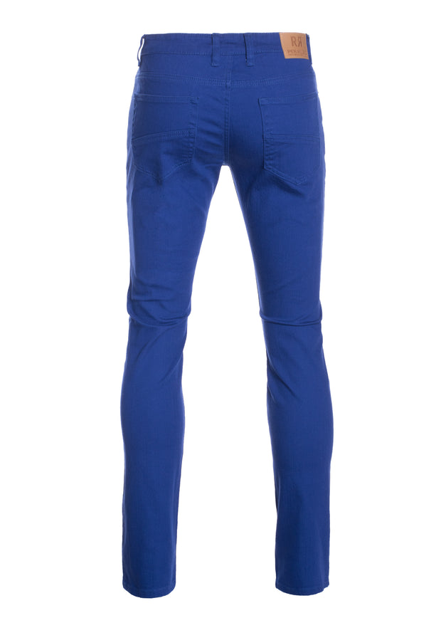 Royal Striated Skinny-Stretch Cotton Pants (717)