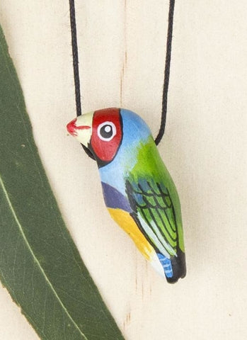Songbird Whistle Necklace - Gouldian Finch