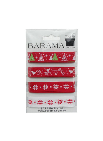 Red & White Christmas Ribbon Pack