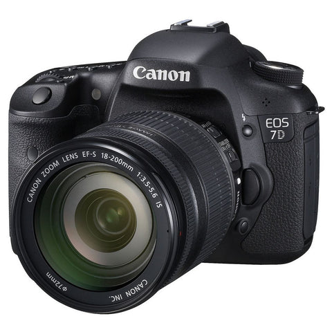 Canon EOS 7D Camera with EF-S 18-200mm IS Lens Kit Multi Language