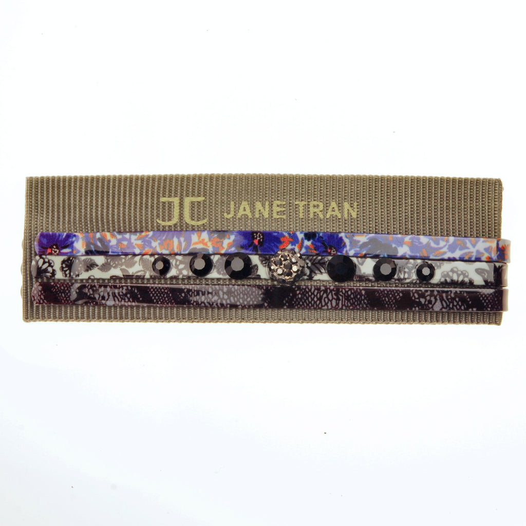 Tri-Tone Bobby Pin Sets with Crystal