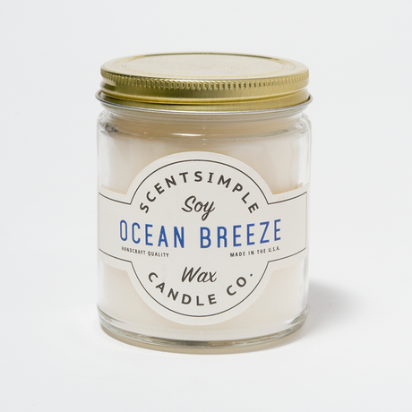 Ocean Breeze Scented Soy Wax Candle