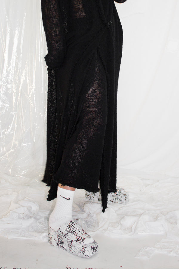 NELLY JOHANSSON FLARED MESH PANTS